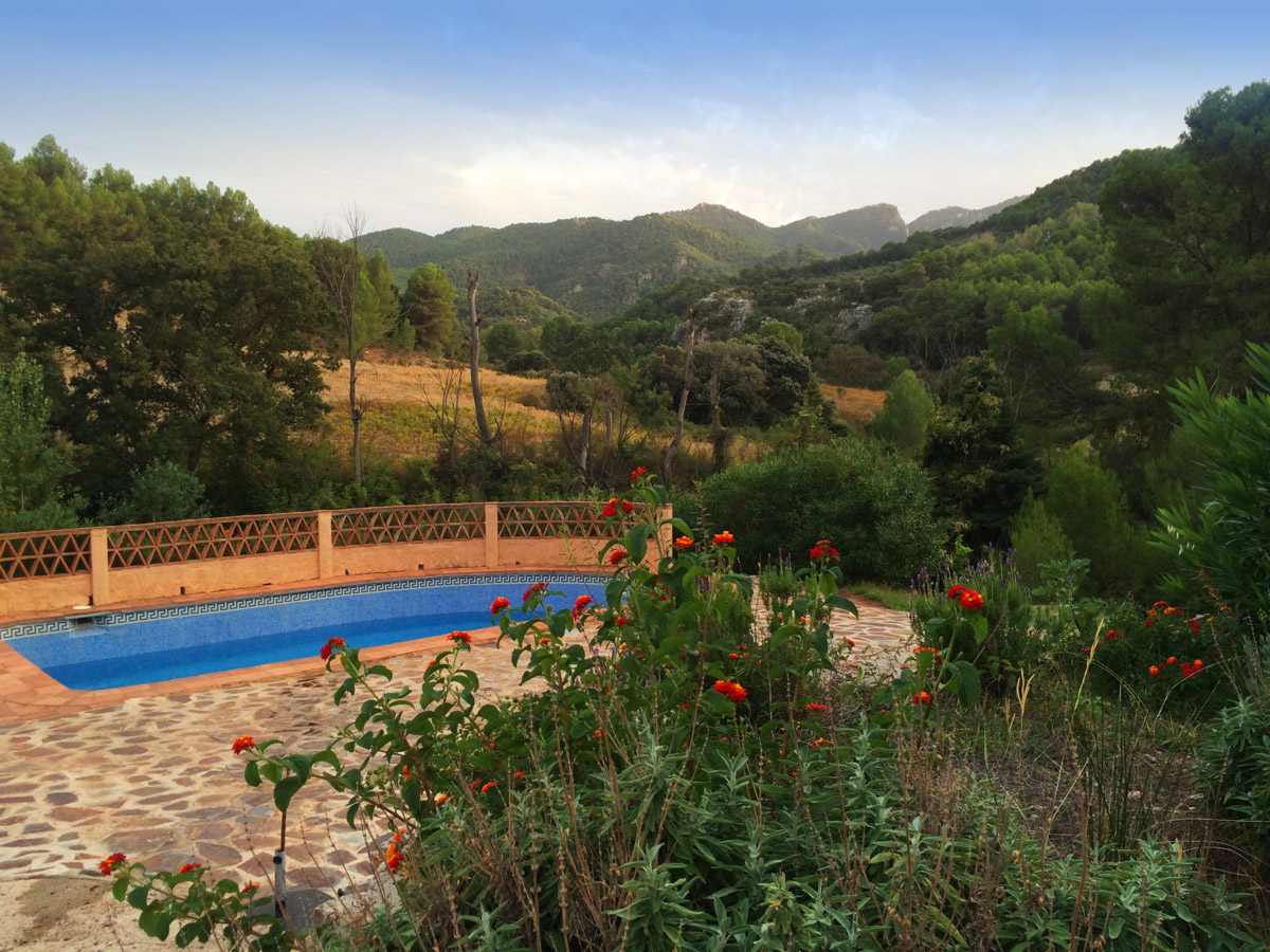 View garden swimmingpool sierra nieves yoga retreats spanje for Allied gardens swimming pool